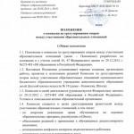 Положение о комиссии по урегулированию споров между участниками образовательных отношений