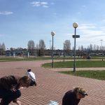 29.04 (01.05.2017 )Парк Маргелова. Рисуем на асфальте